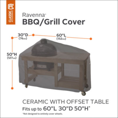 Classic Accessories® Ravenna Ceramic Grill with Offset Table Cover