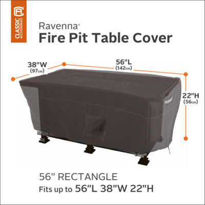 Classic Accessories® Ravenna Rectangular Fire Pit Table Cover