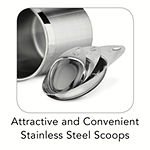 Tramontina® Gourmet 8-pc. Stainless Steel Canister & Scoop Set