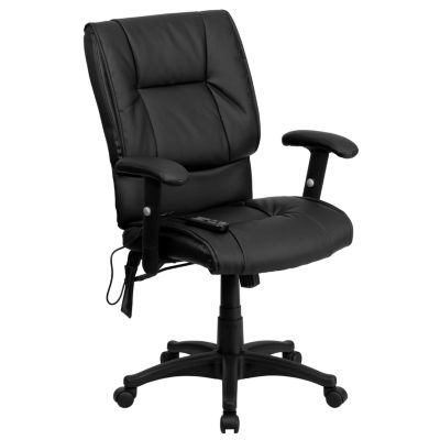 Leather Contemporary Mid Back Office Chair