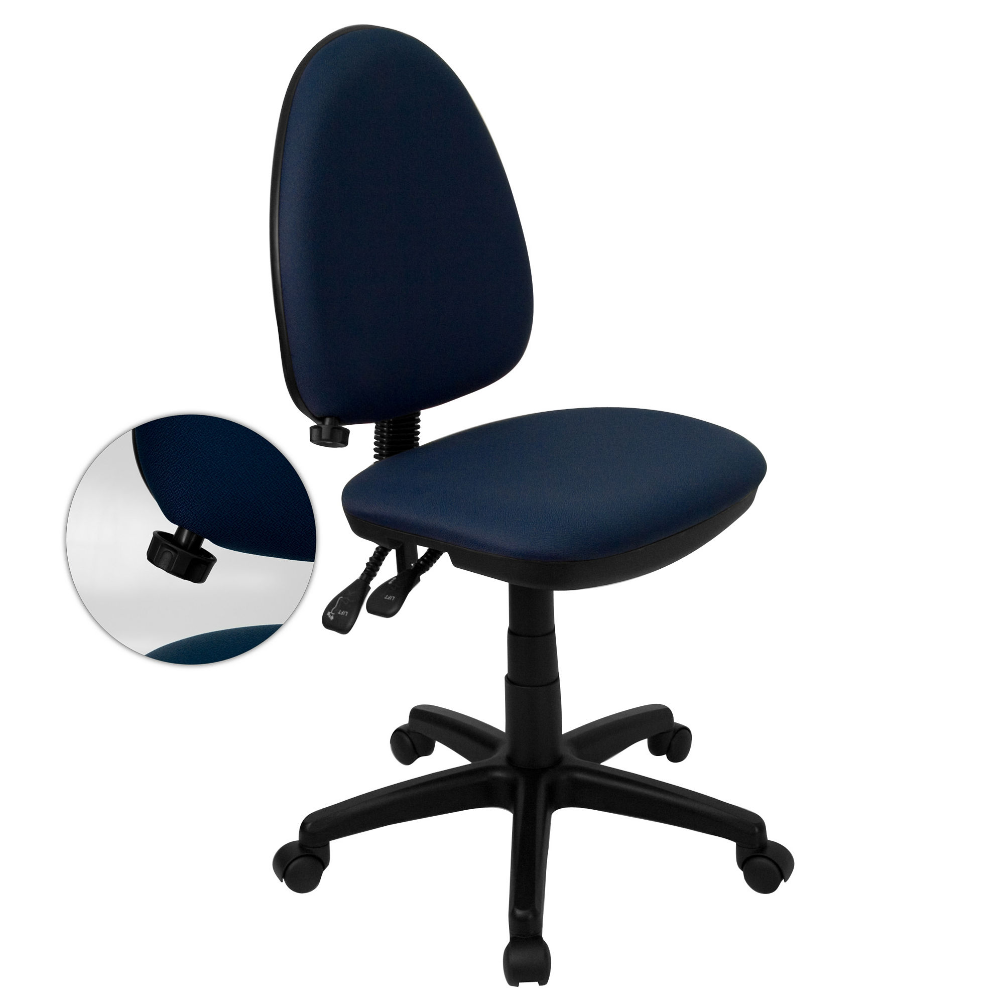 Armless Fabric Office Chair