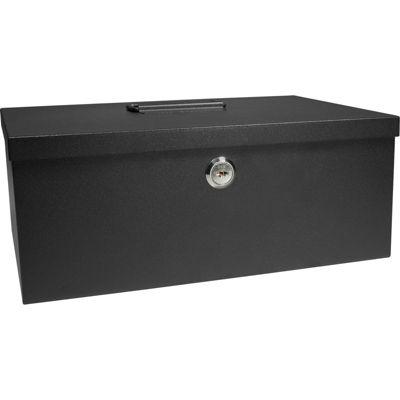 Barska® Cash Box & 6-Compartment Tray with Key Lock