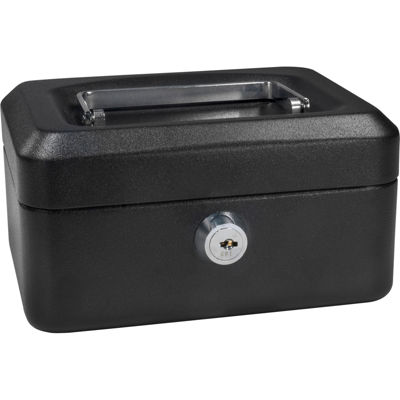 "Barska 6"" Cash Box with Key Lock"