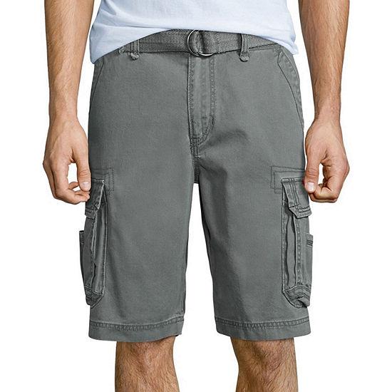 UNIONBAY® Survivor Belted Vintage Cotton Twill Cargo Shorts