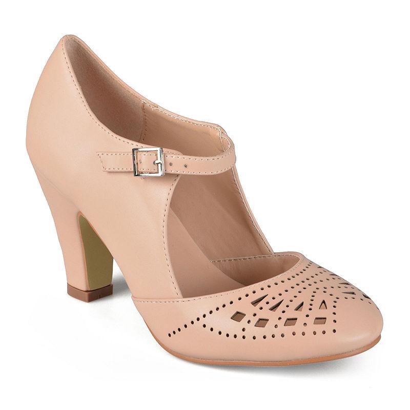 1930s Style Shoes – Art Deco Shoes Journee Collection Elsa Tailored Pumps Size 7 Medium Womens Pink $80.75 AT vintagedancer.com