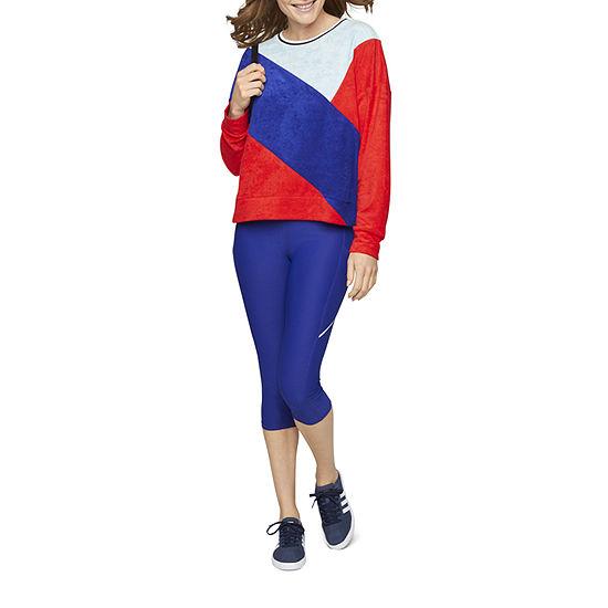 Xersion Assymetrical Blocked Sweatshirt