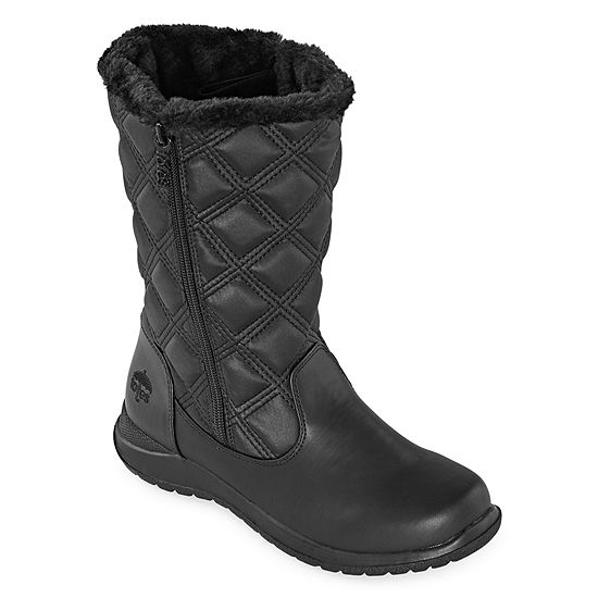 Totes Womens Elsa Waterproof Winter Boots Flat Heel