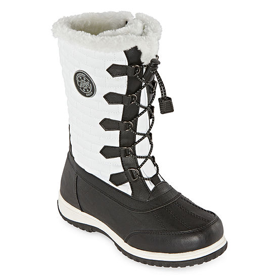 Totes Womens Cleo Waterproof Winter Boots Flat Heel