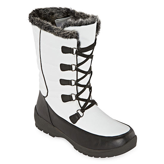 Totes Womens Alana Waterproof Insulated Winter Boots Flat Heel
