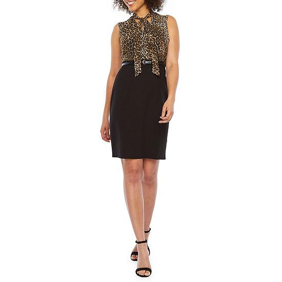Alyx Sleeveless Animal Sheath Dress