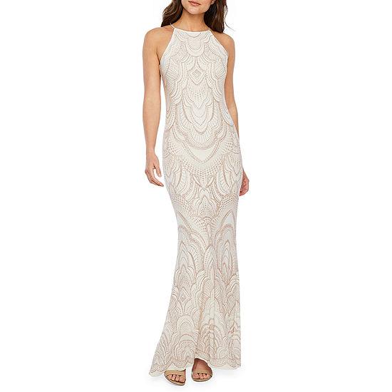 f8abd067 Blu Sage Sleeveless Glitter Knit Evening Gown - JCPenney