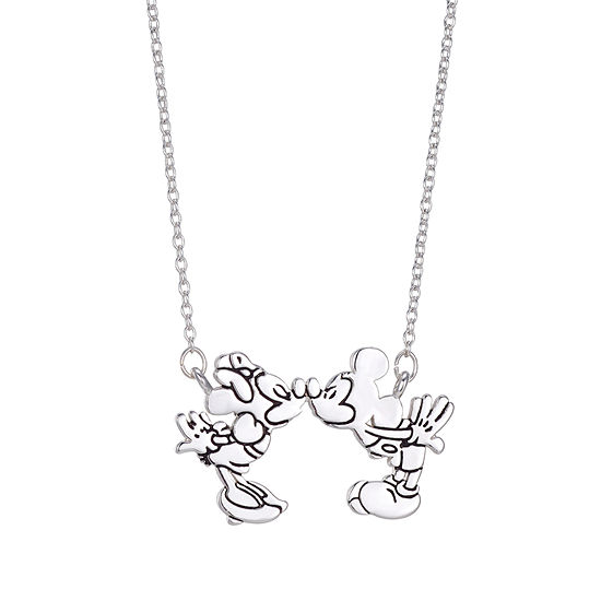 Disney Classics Womens Mickey Mouse Pendant Necklace