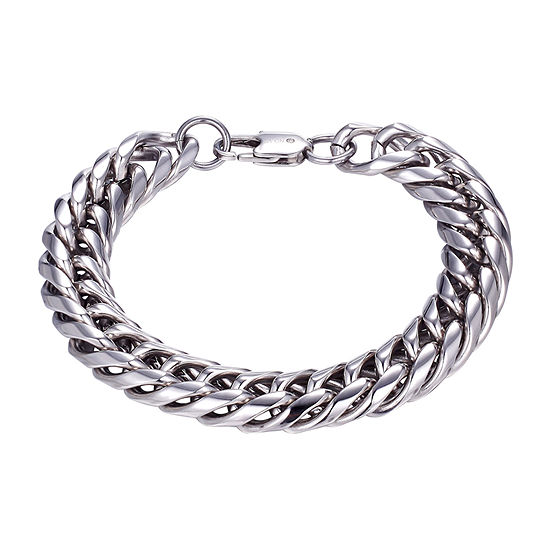 Footnotes J.P. Army Stainless Steel 8 1/2 Inch Link Chain Bracelet