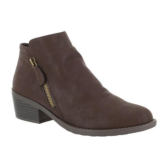 Easy Street Womens Gusto Booties Block Heel