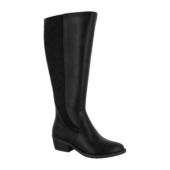 Easy Street Womens Cortland Dress Boots Block Heel