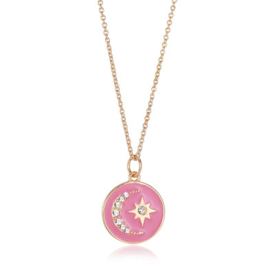 Footnotes Womens Crystal Pendant Necklace