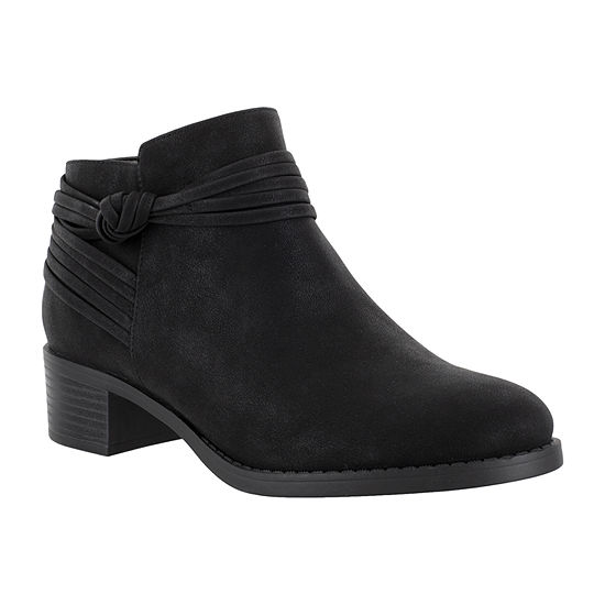 Easy Street Womens Wylie Booties Block Heel