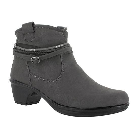 Easy Street Womens Wrangle Booties Block Heel