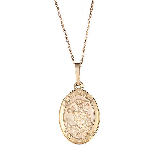 St. Michael Womens 14K Gold Pendant Necklace