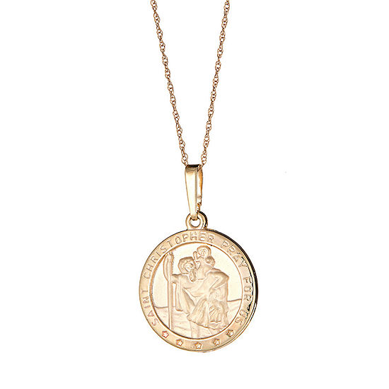 Our Lady Of Guadalupe Womens 14K Gold Pendant Necklace