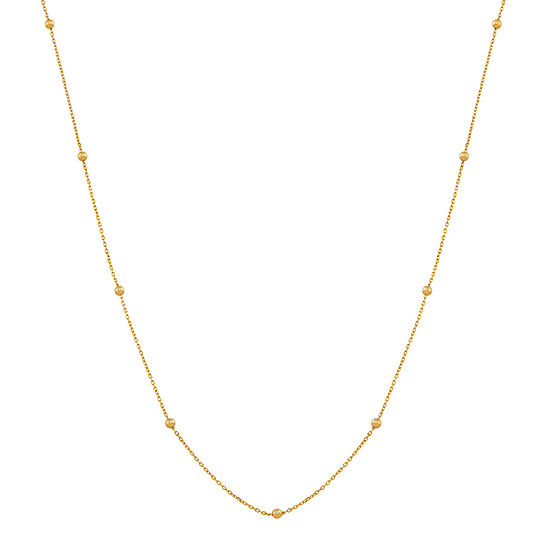Made in Italy Womens 18 Inch 14K Gold Link Necklace