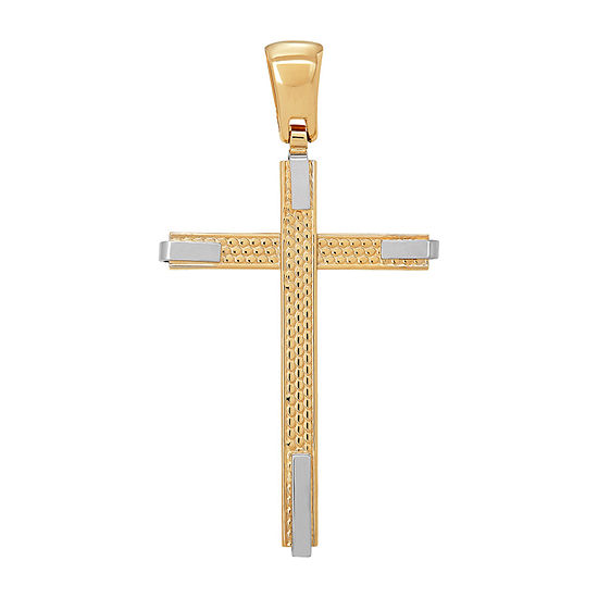 Made in Italy Unisex Adult 14K Gold Cross Pendant