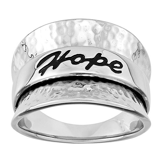 Forever Inspired Womens 3.5MM Sterling Silver Band