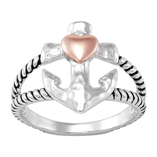 Forever Inspired Womens Sterling Silver Heart Cocktail Ring