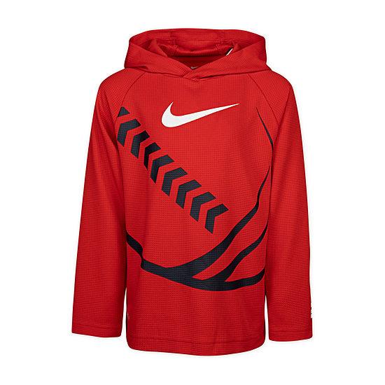 Nike Long Sleeve Graphic Thermal Boys Hoodie-Preschool
