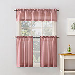 No 918 Perry 3-pc. Rod-Pocket Kitchen Curtain Set