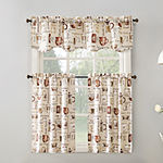 No 918 Berkley 3-pc. Rod-Pocket Kitchen Curtain Set