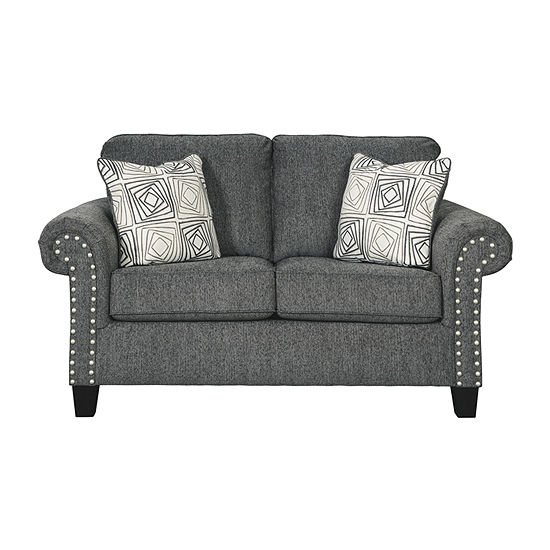 Signature Design By Ashley Agleno Pad Arm Loveseat