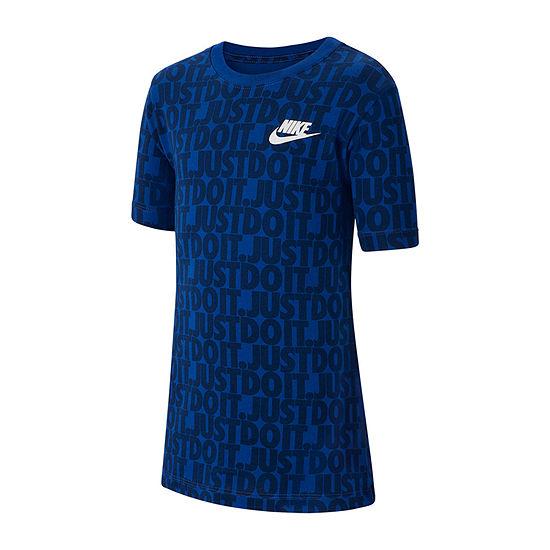 Nike Boys Round Neck Short Sleeve Graphic T-Shirt Preschool / Big Kid