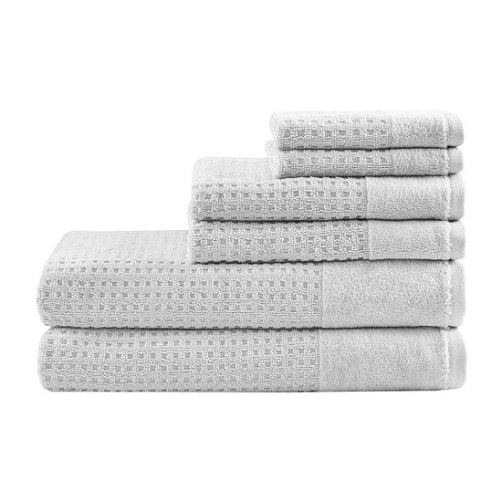 Madison Park Spa Waffle 6-pc. Solid Bath Towel Set