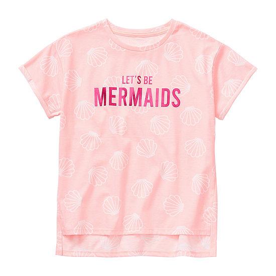 Arizona Little & Big Girls Crew Neck Short Sleeve Graphic T-Shirt