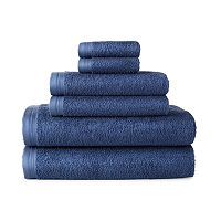 Home Expressions Solid 6-pc. Solid Bath Towel Set, One Size , White