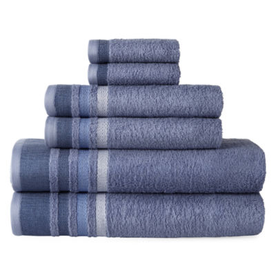 Home Expressions Stripe 6-pc. Stripes Bath Towel Set