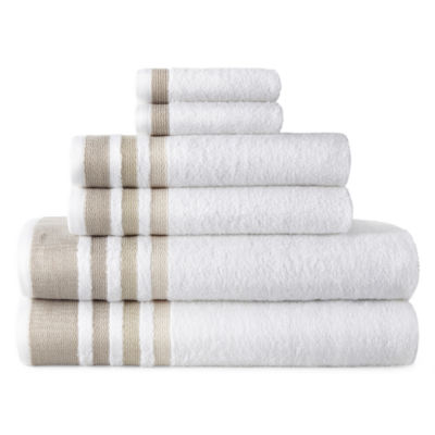 Home Expressions Stripe 6-pc. Stripes Bath Towel Set