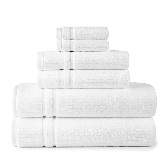 Liz Claiborne Classics 6-pc. Stripes Bath Towel Set