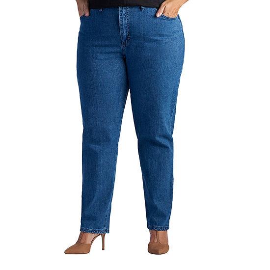 Lee® Side-Elastic Tapered Leg Jeans - Plus
