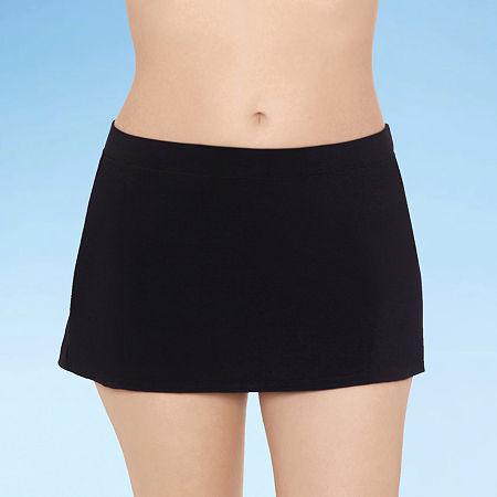 Sonnet Shores Womens Swim Skirt, 10 , Black