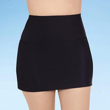 Sonnet Shores High Waist Womens Swim Skirt, 10 , Black