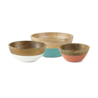 Outdoor Oasis Wooden Serving Bowl Collection