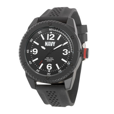 Wrist Armor® US Navy Mens Rubber Strap Watch