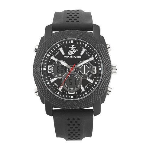 Wrist Armor® C21 Mens US Marine Corps Rubber Strap Chronograph Watch