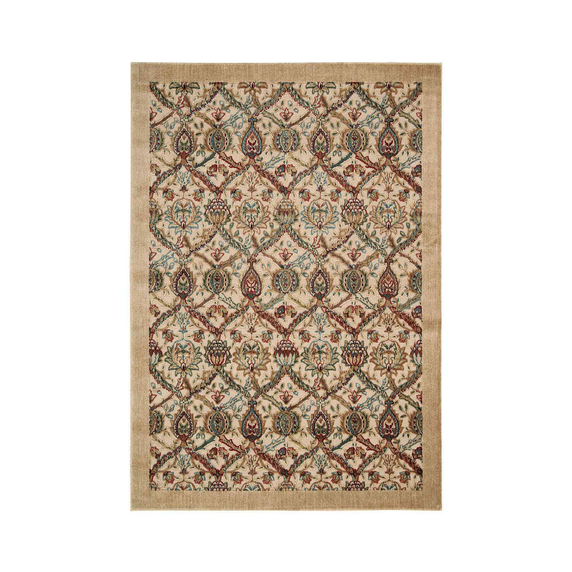 Nourison Chesterfield High-Low Carved Rectangular Rug