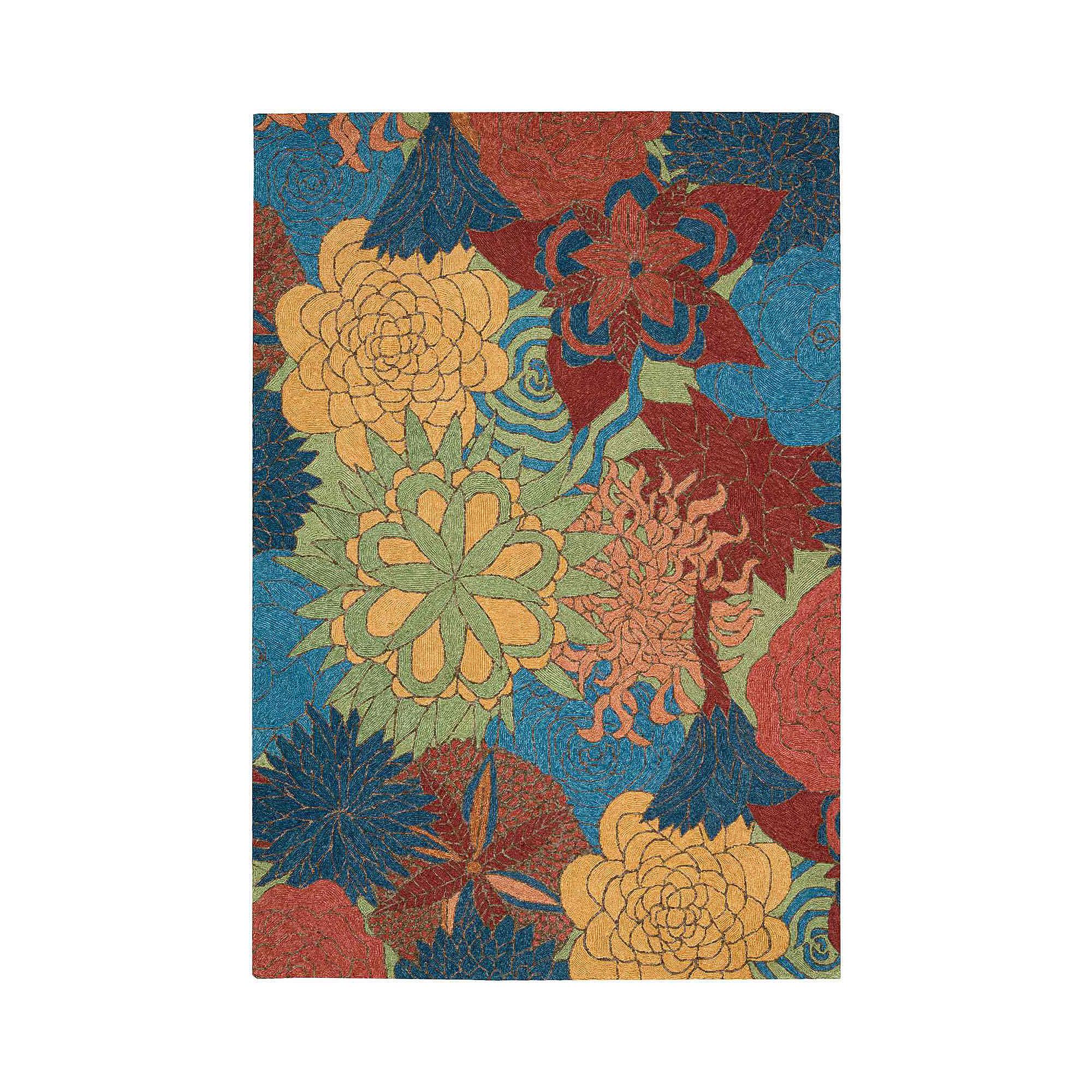 Nourison Floral Bouquet Hand-Hooked Indoor/Outdoor Rectangular Rug