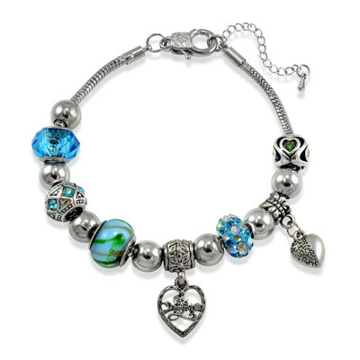 Dazzling Designs™ Daughter Aqua Artisan Bead Bracelet
