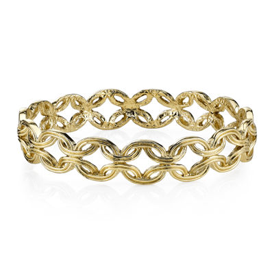 1928® Jewelry Gold-Tone Link Bangle Bracelet