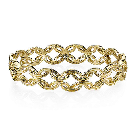 1928® Jewelry Gold-Tone Link Bangle Bracelet